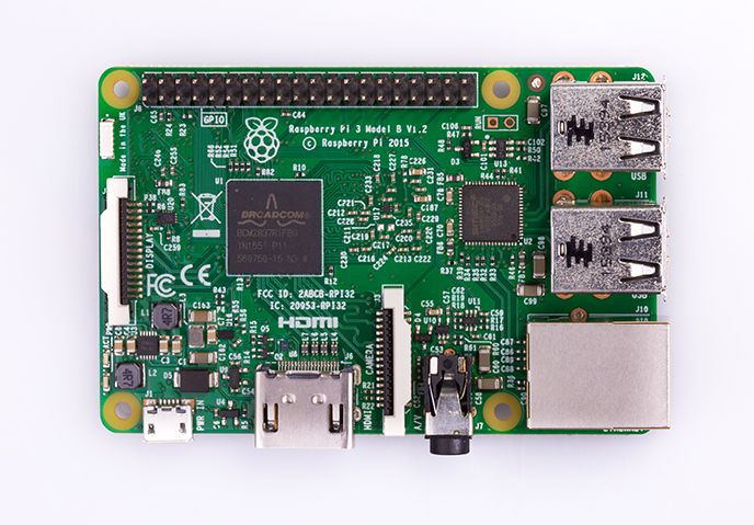 Top down image of Raspberry Pi 3