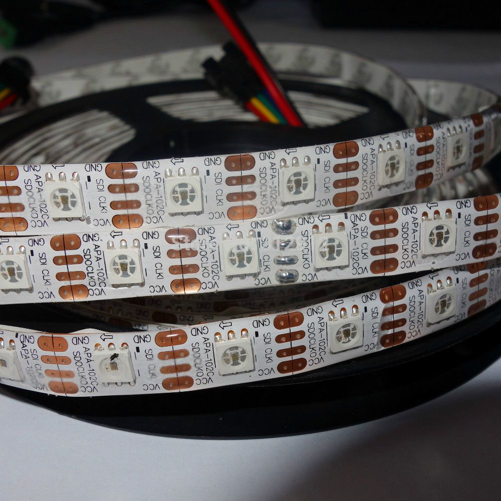 APA102 5v LED Strip, 60pcs/m Pixel LEDs